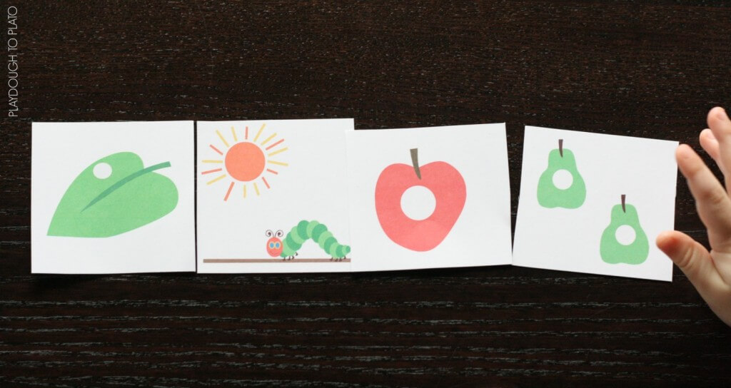 FREE Very Hungry Caterpillar Story Sequencing Cards.