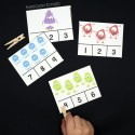 Fun Monster Count and Clip Cards