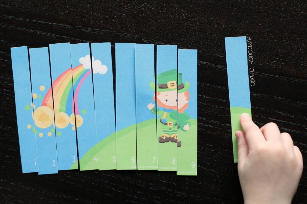Great way to practice 123 order and number recognition. St. Patrick's Day puzzles!
