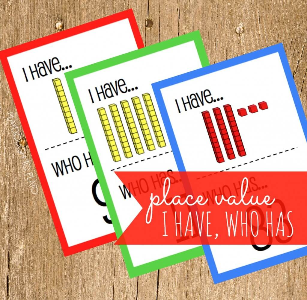 I Have, Who Has Place Value Game. Awesome freebie!