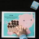 Race to fill the piggy bank. {This one's my boys' favorite because it involves money!} Practice counting, number recognition and coin names.