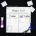 Sort Shapes by Number of Sides and Curvy or Straight
