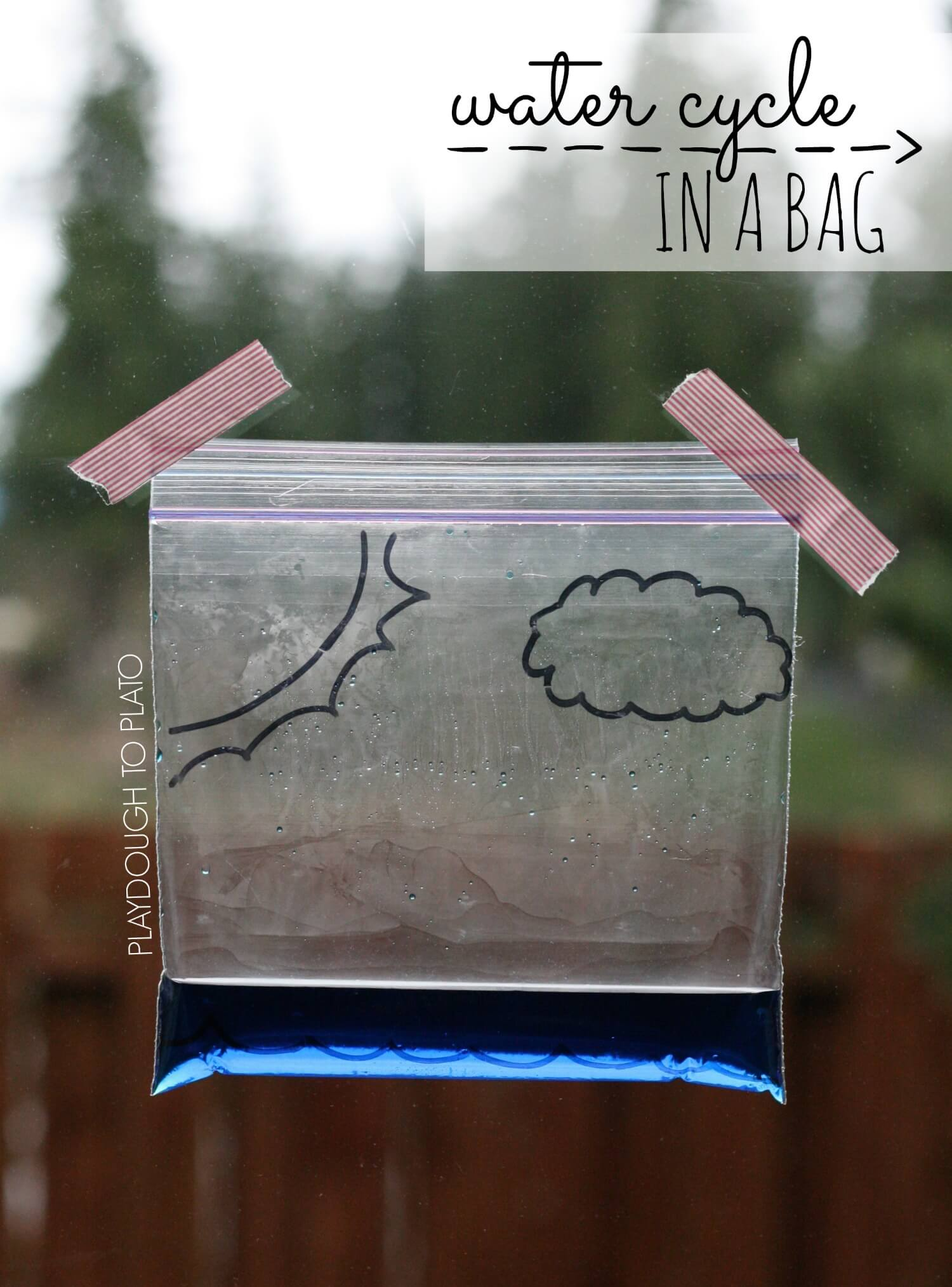Water Cycle In A Bag Playdough To Plato