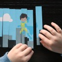 Build superhero puzzles to practice 123 order and number recognition.