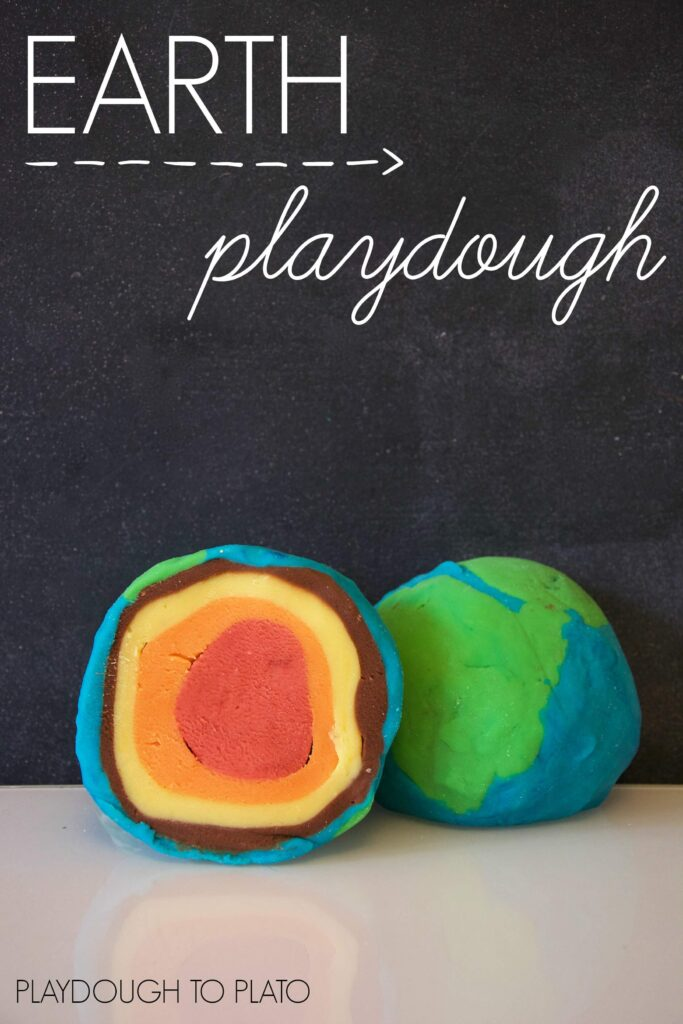 Layers of the Earth playdough!!