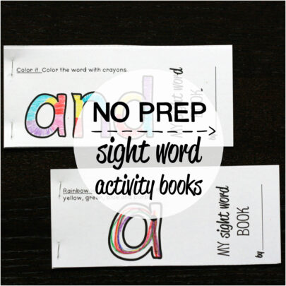 make 40 Activity Set  word Sight NO / sight to PREP Books Kindergarten – Home books #1 Word /