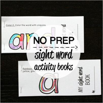 – for  Sight NO Activity Home Kindergarten #1 preschool / books / sight Word 40 PREP Set word Books