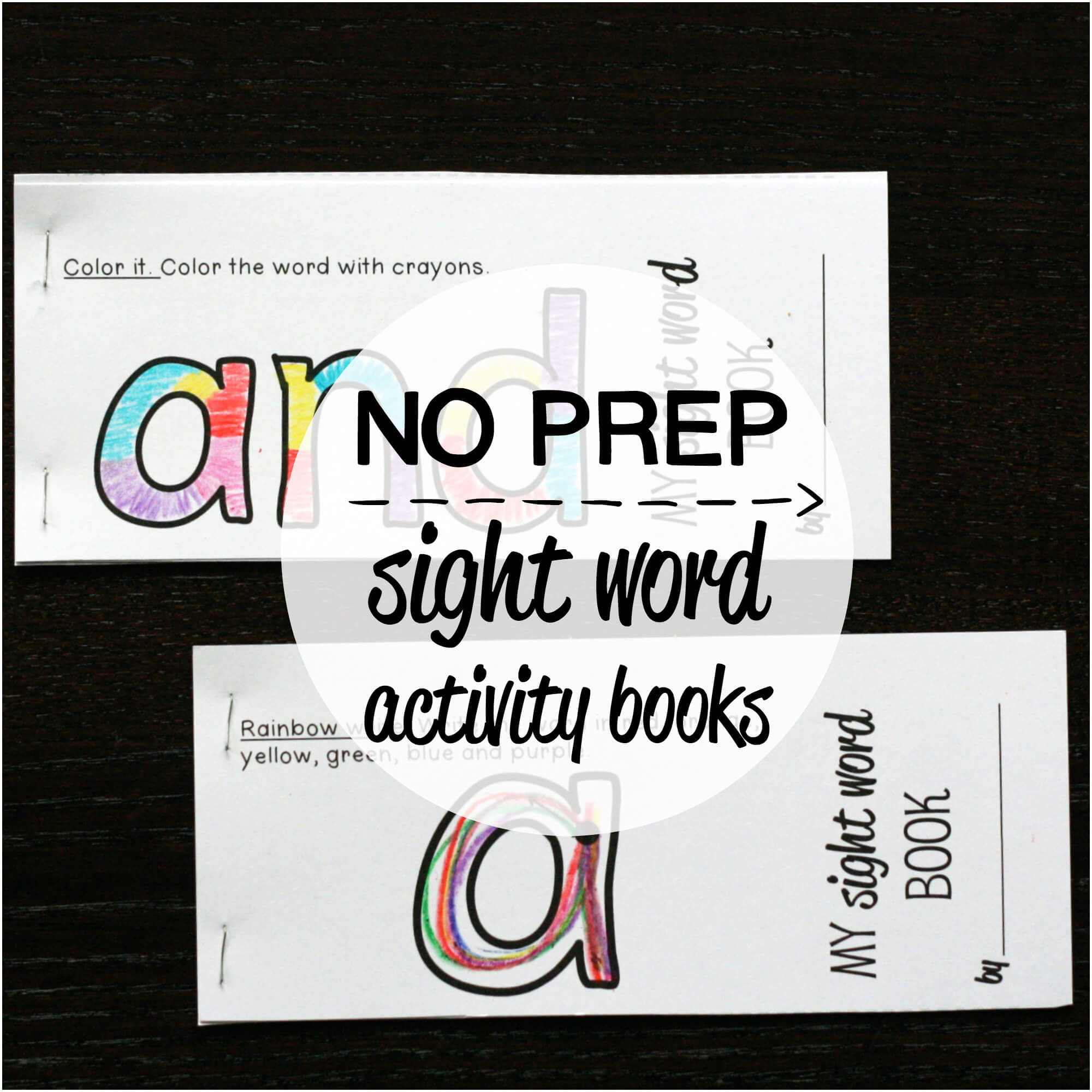 Word books Set Activity NO up Kindergarten / Books Home  sight 40 Sight word #1 PREP – /
