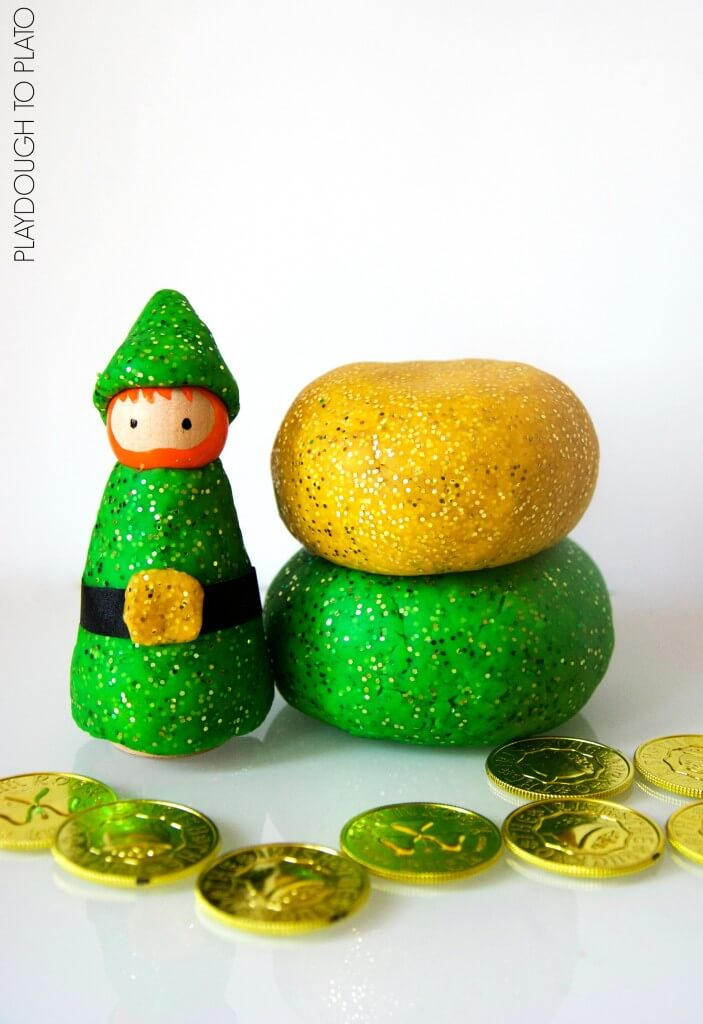 Sparkly St. Patrick's Day Playdough