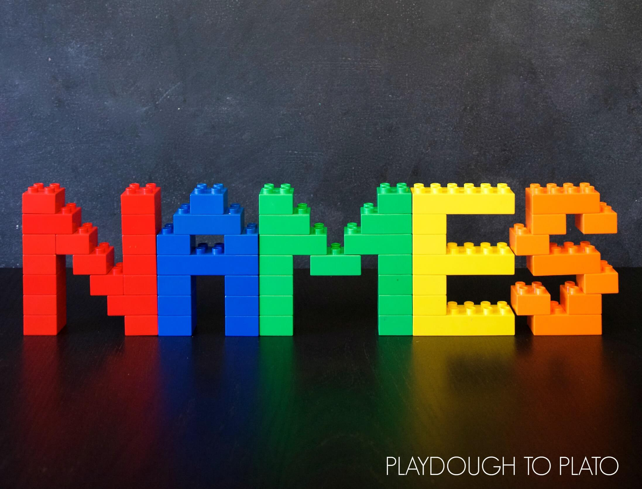 Building Lego Names Playdough To Plato