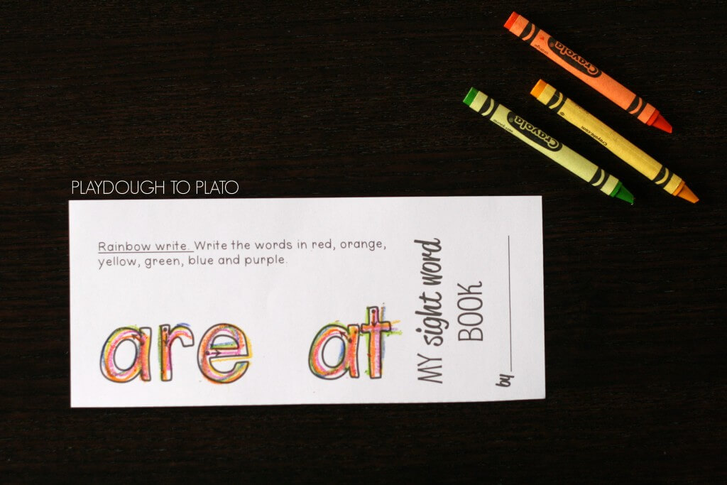 Awesome sight word activity books for kids!