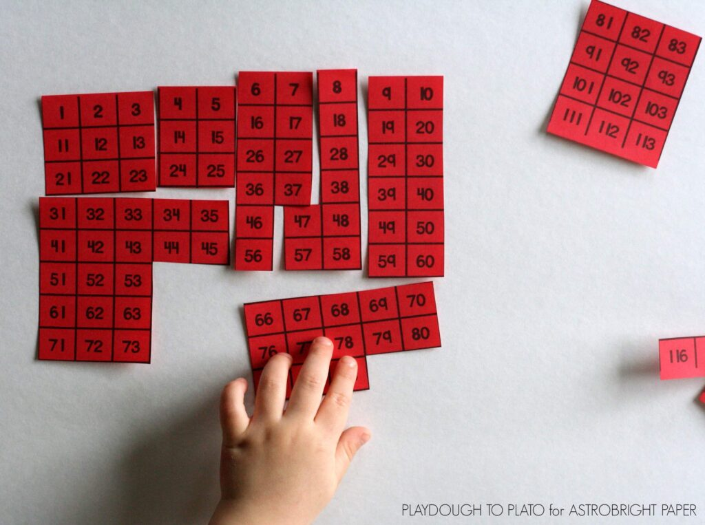 FREE Hundred Chart Puzzles. Great for number sense!