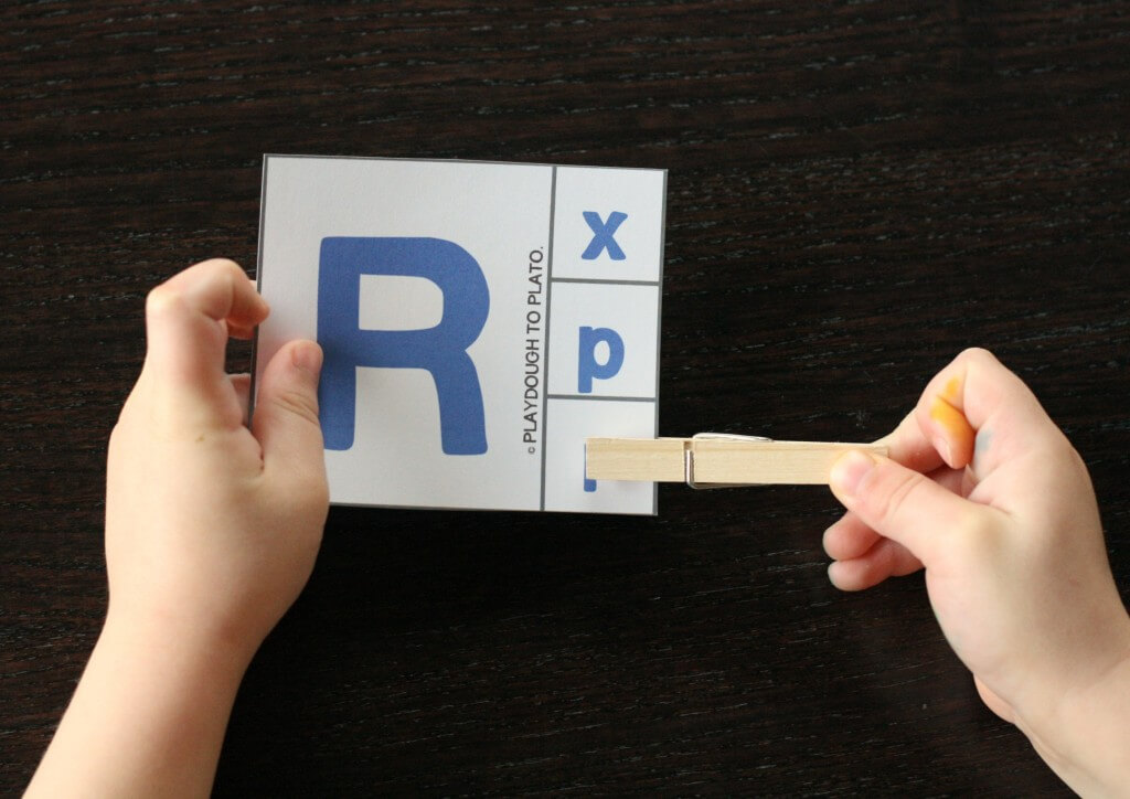 FREE printable alphabet clip cards