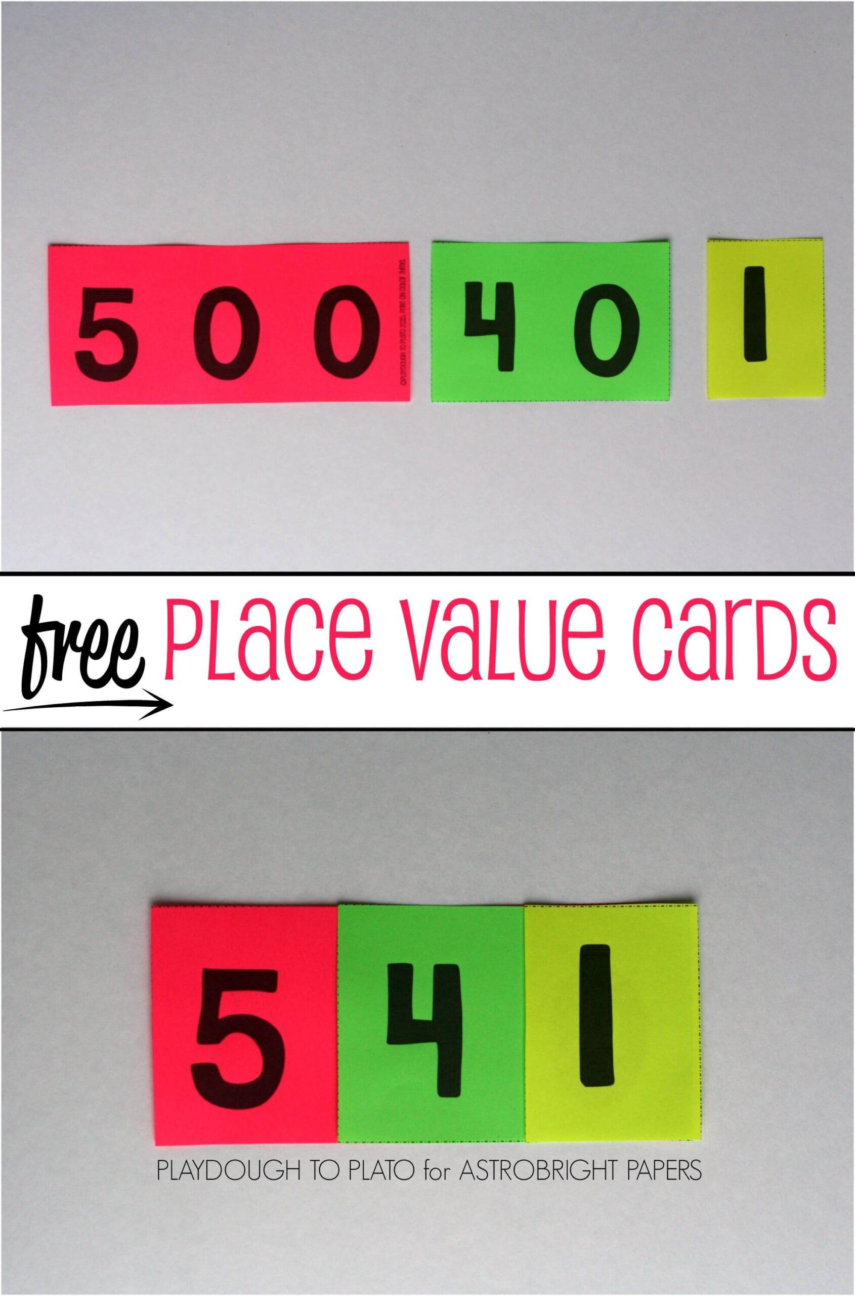 Place Value Cards #Colorize
