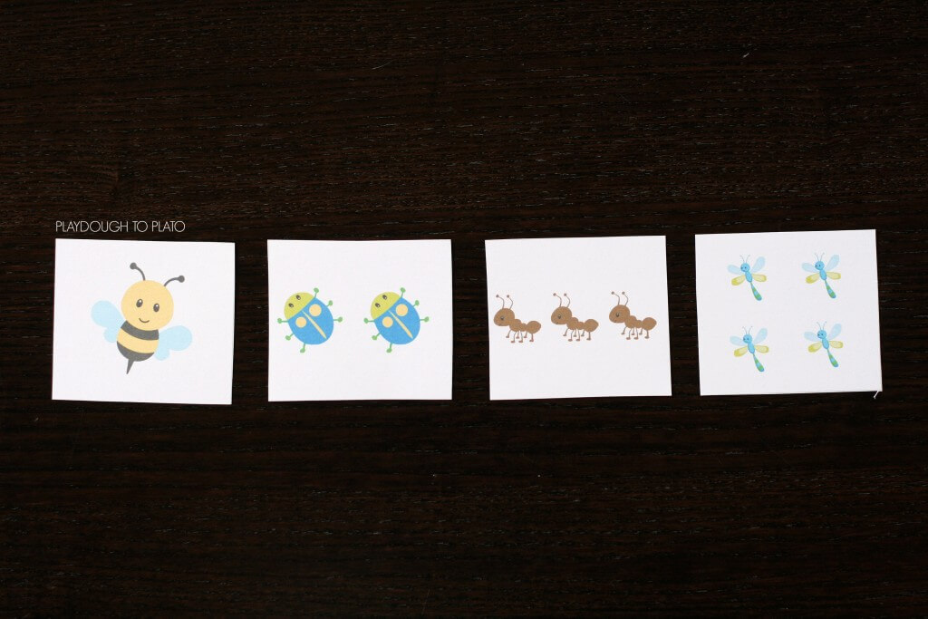 Bug Number Cards for Preschoolers. So fun!