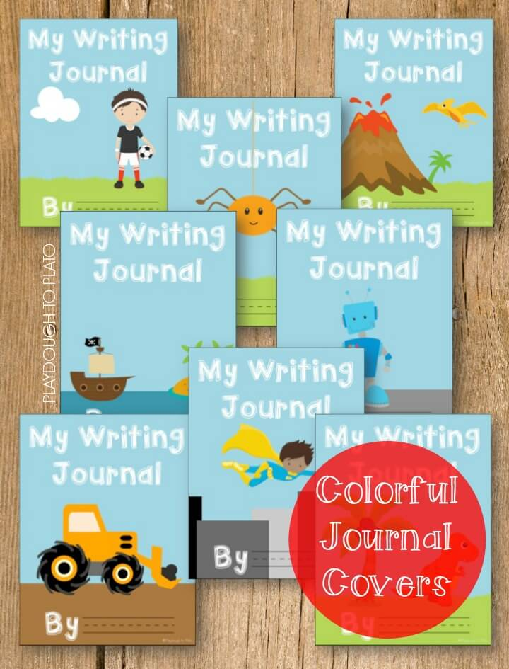 Colorful Boys Journal Covers