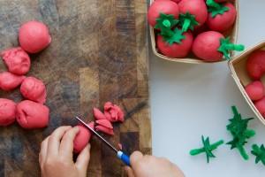 Sun Ripened Strawberry Playdough