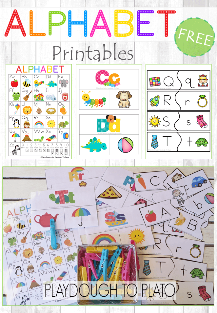 photo relating to Free Printable Alphabet Chart named Free of charge Alphabet Printables - Playdough Toward Plato