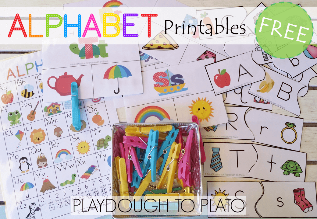 photograph relating to Free Printable Alphabet Chart called Cost-free Alphabet Printables - Playdough Towards Plato