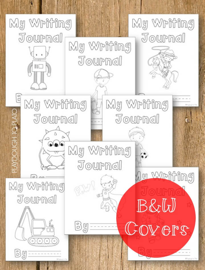 Fun Black and White Journal Covers