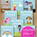 Girls will love the bright and colorful journal covers.