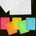 Help more advanced writers check their work with these helpful editing checklists.  Print them on color to add some flavor and laminate them for easy reuse.