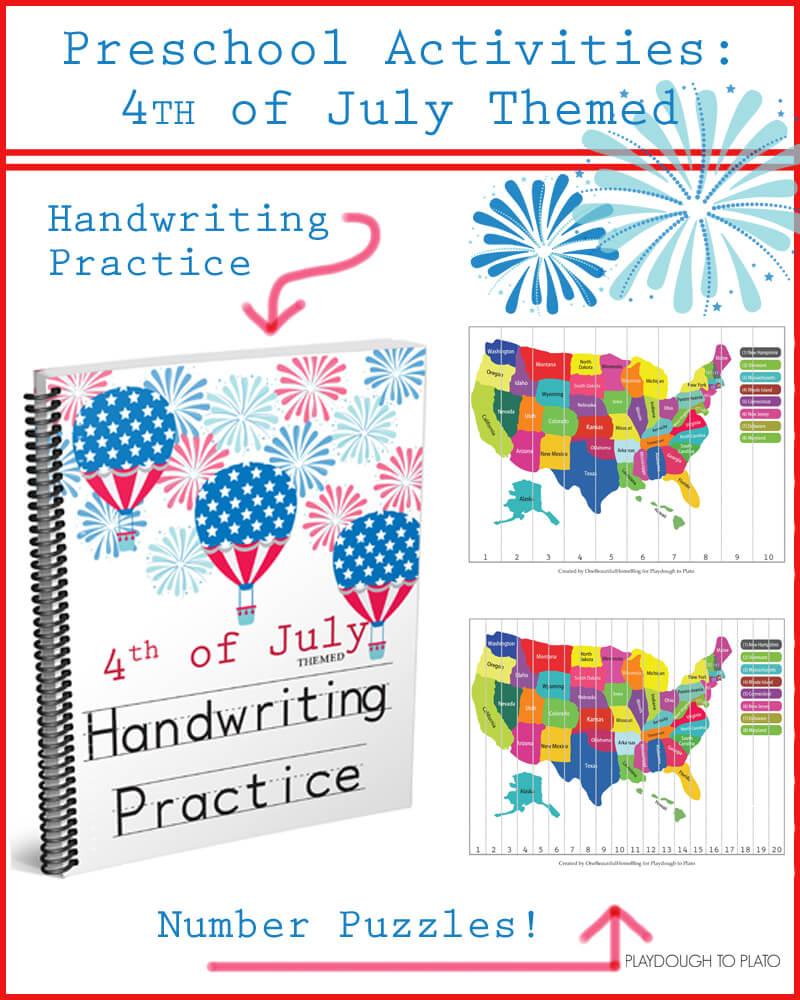 4th of July Preschool Pack