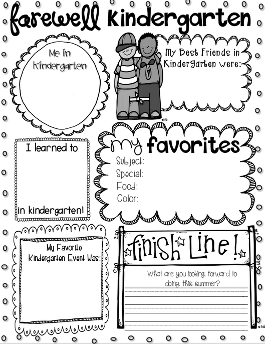 End Of The Year Coloring Pages For Kindergarten : Awesome end of the year activities playdough to plato