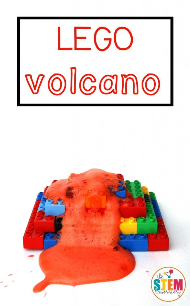 What an awesome STEM activity for kids! Make a LEGO volcano that really erupts. So easy to make and it would be perfect for a science fair project.