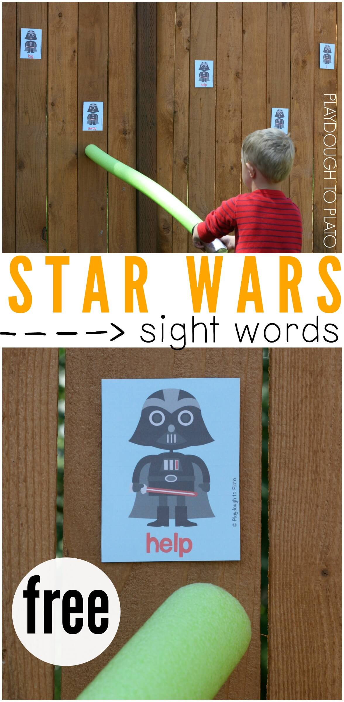 Star Wars Sight Word Game - Playdough To Plato