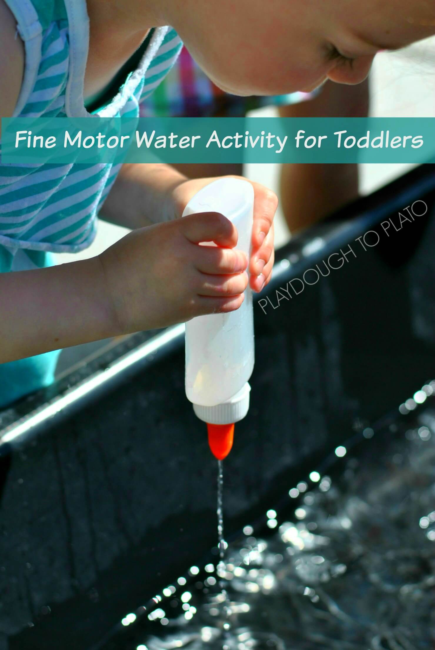 Fine Motor Water Activity for Toddlers - Playdough to Plato.2