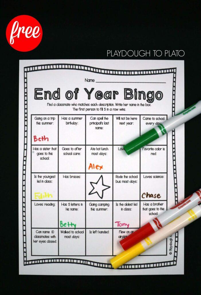 Free End of Year Bingo!