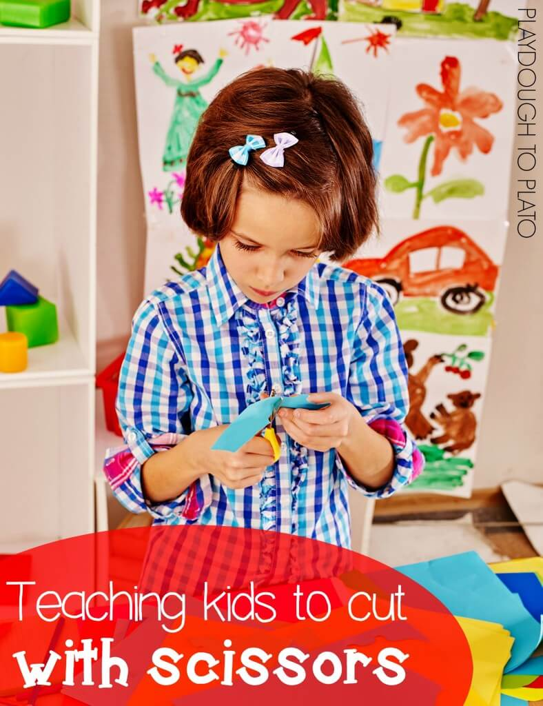 Teaching Kids to Cut with Scissors