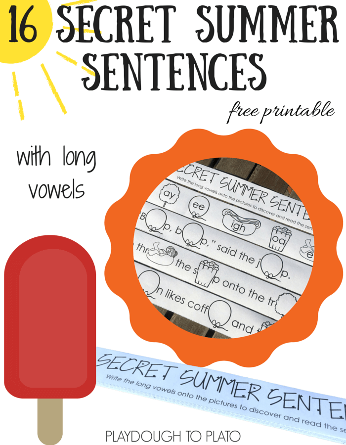 Encourage your kids to read and write long vowels over the summer!