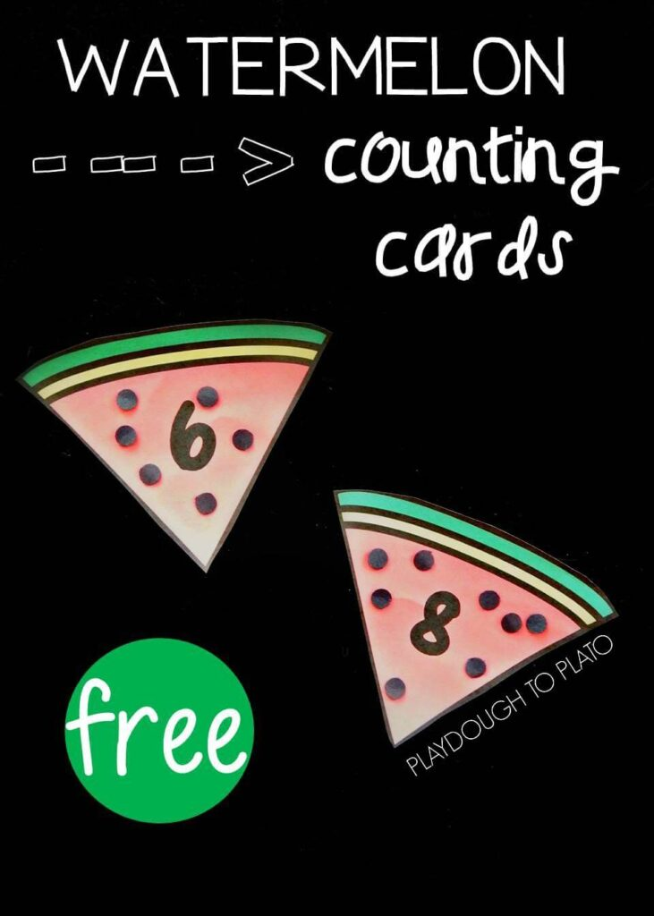 watermelon seed counting cards pin