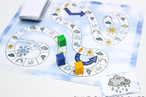 Download this free printable weather game for a fun way to learn the different weather terms with your preschooler!