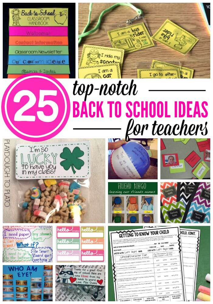 Back to school ideas for teachers playdough to plato for Back to school decoration ideas for teachers