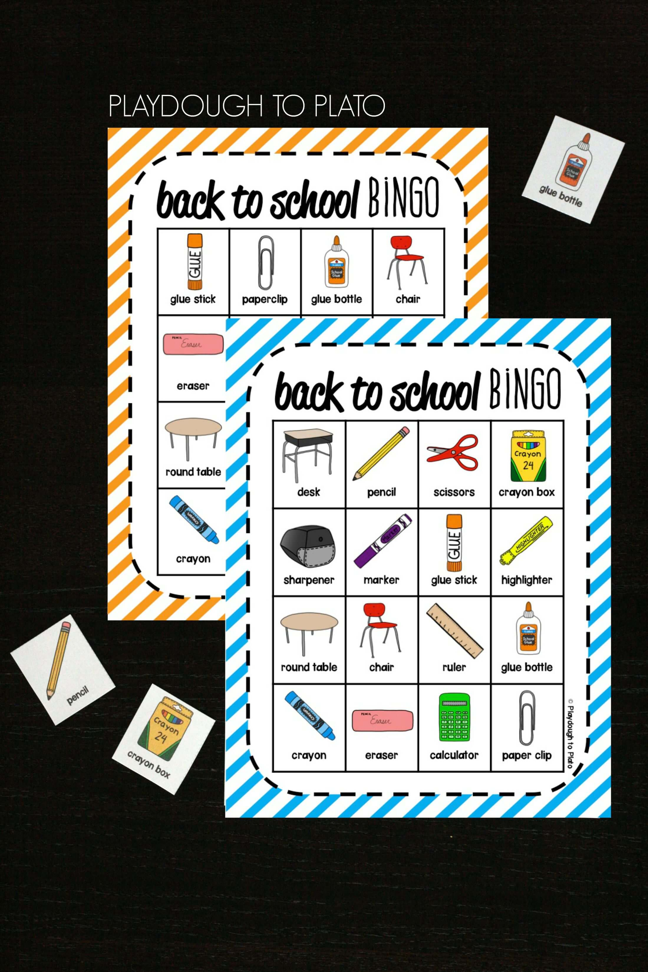 image relating to Back to School Bingo Printable called Again towards College Bingo - Playdough Toward Plato