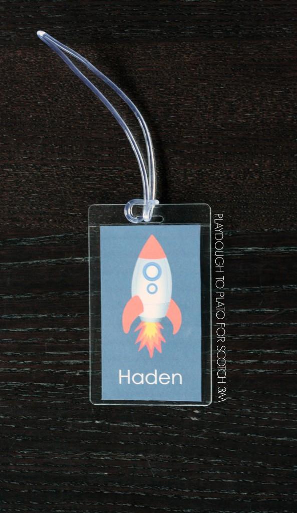 FREE editable bag tags for kids