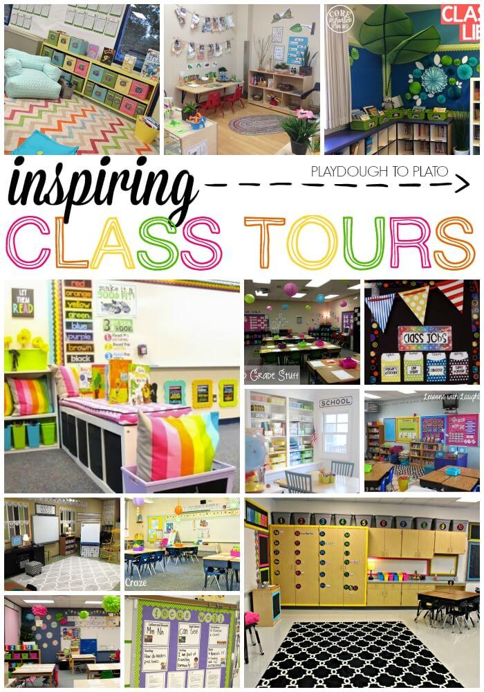 Great Classroom Decor ~ Motivating classroom tours playdough to plato