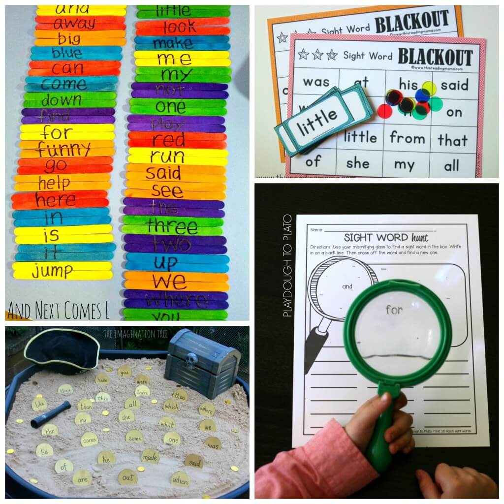 Tons of awesome sight word games for kids