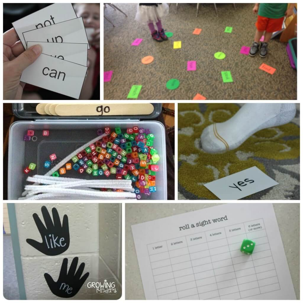 Tons of creative sight word games for kids