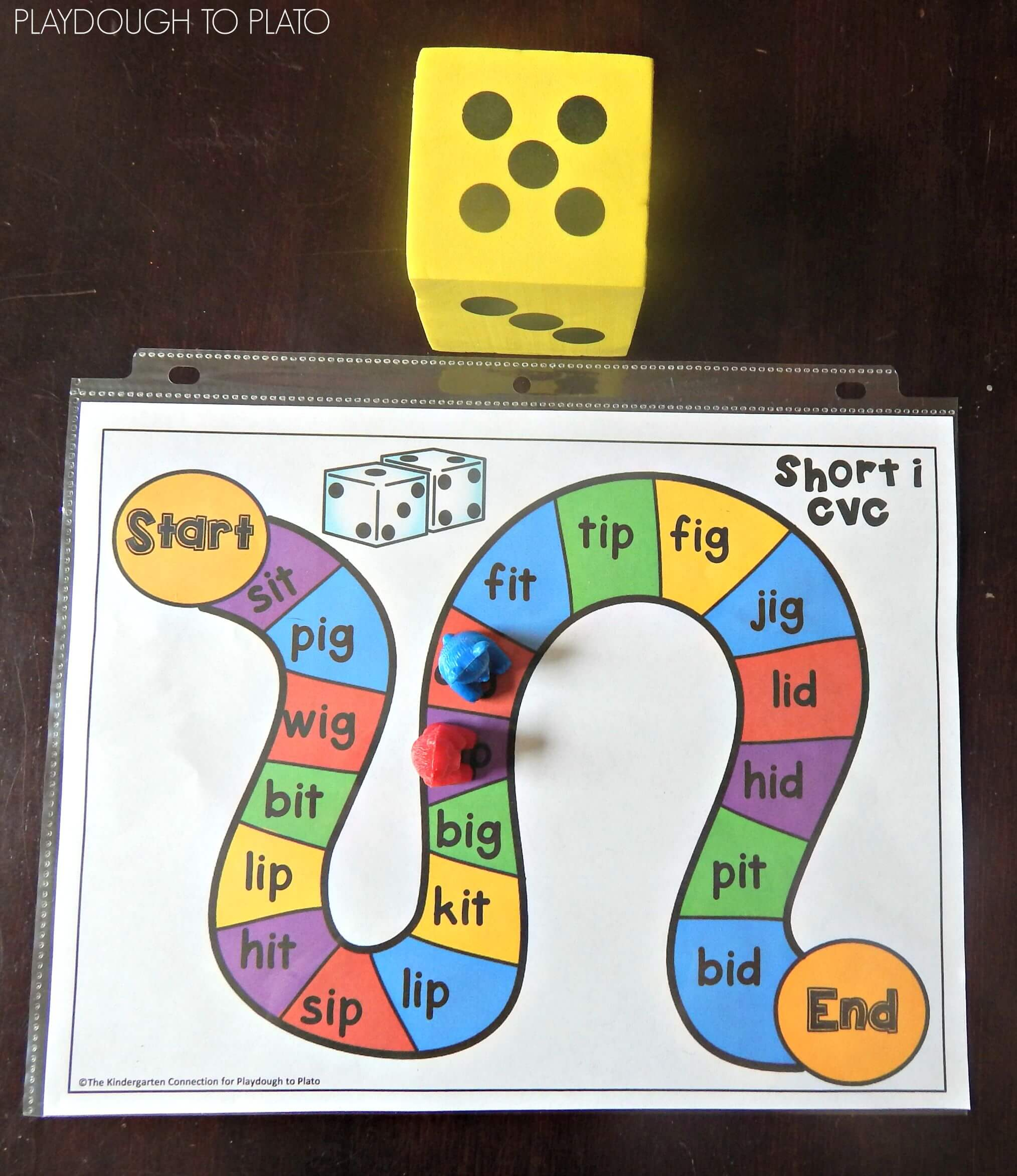 Free cvc word board games playdough to plato for How do you play go fish card game