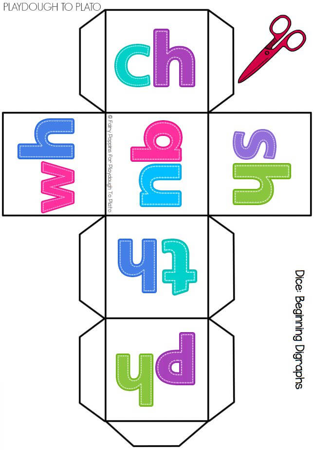 FREE Digraph Dice. Such a fun way to get kids practicing those tricky digraph sounds. Roll the dice and name a word that has that digraph!