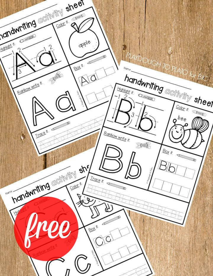 FREE Handwriting Activity Sheets! One for every letter of the alphabet.