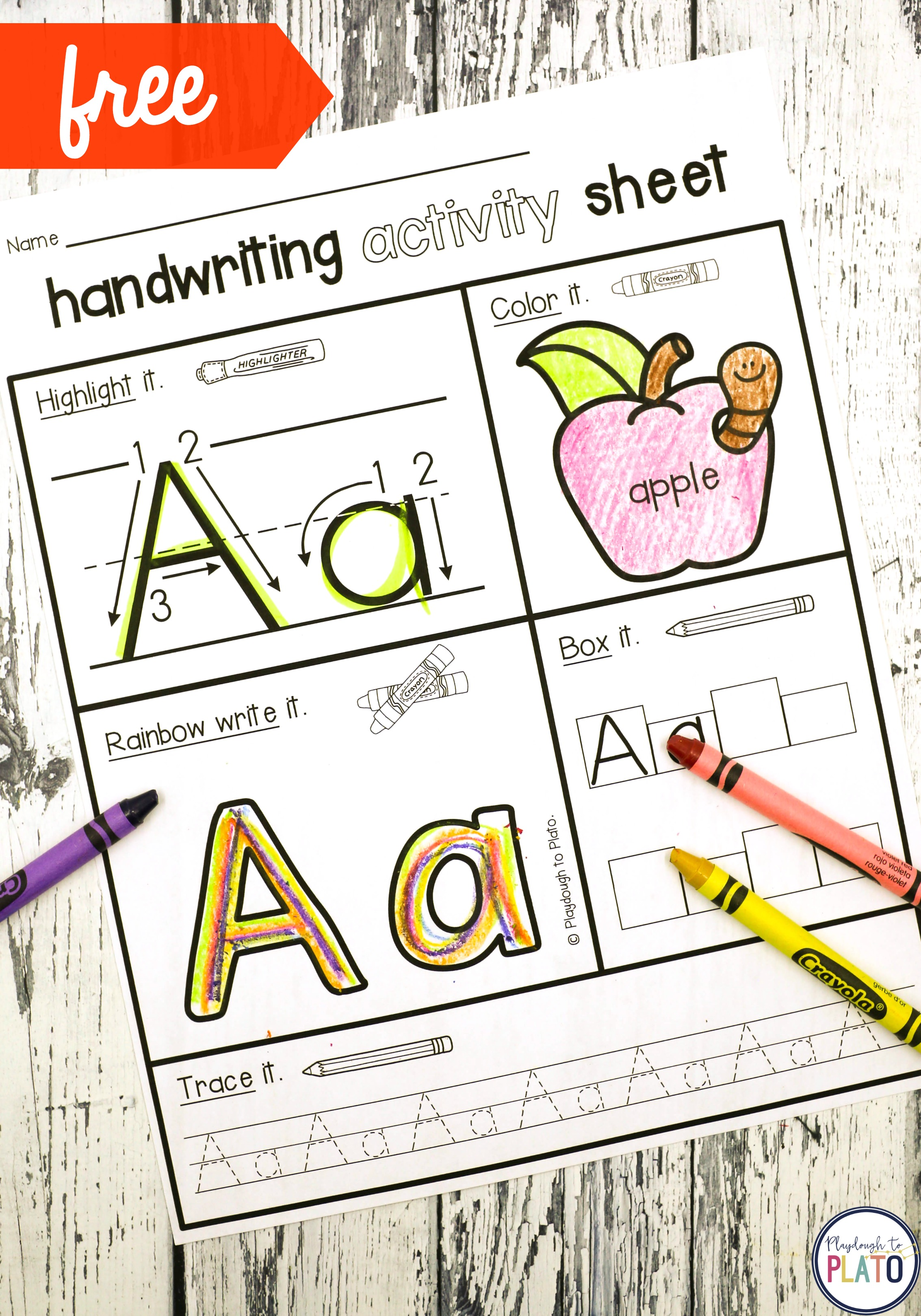 Handwriting Activity Pages - Playdough To Plato