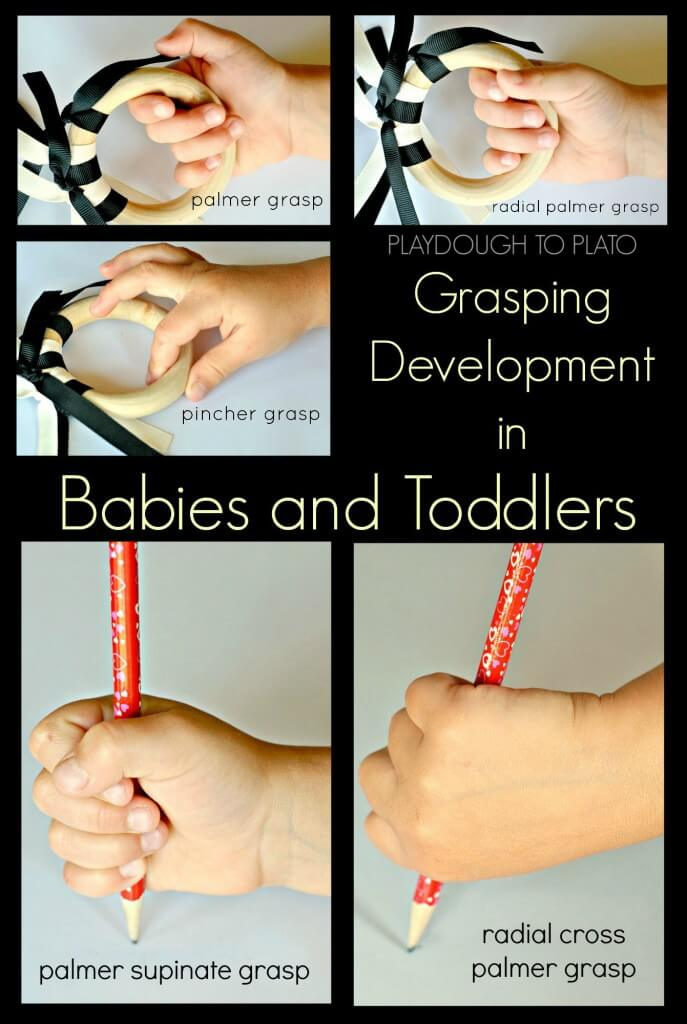grasping development in babies and toddlers - Playdough to Plato.