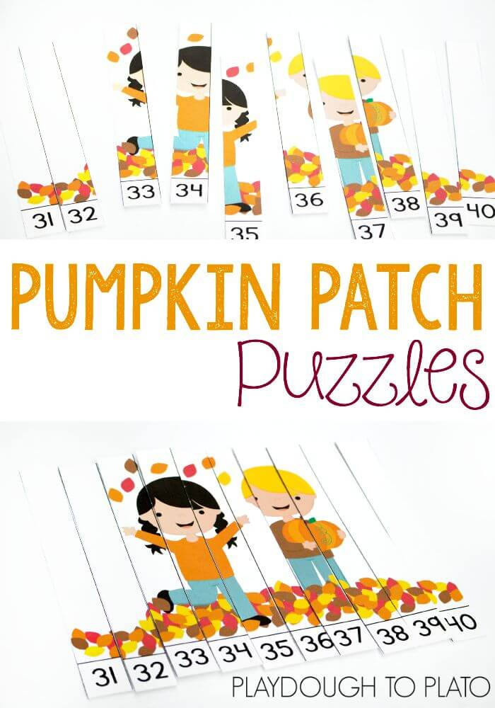Free Pumpkin Puzzles Numbers 1-40