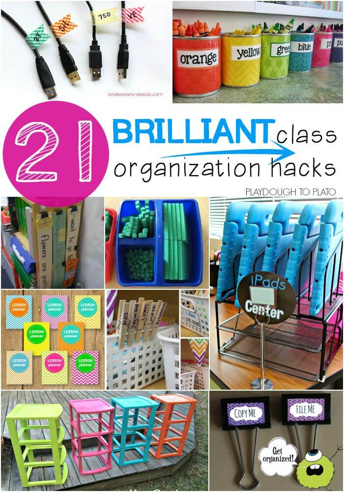 Classroom Storage Ideas ~ Brilliant classroom organization hacks playdough to plato