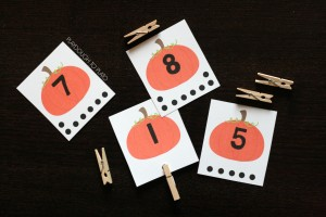Pumpkin Count and Clip Cards